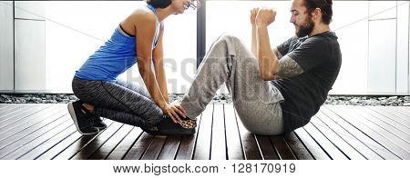 Trainer Training Trainee Sporty Healthy Gym Fit Concept
