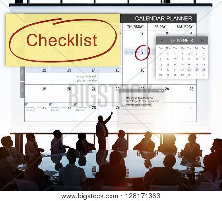 Checklist Appointment Schedule Event Concept