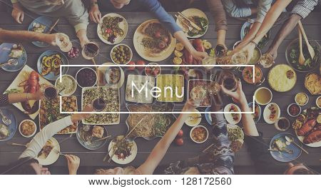 Menu Customer Service Food Restaurant Cafe Concept