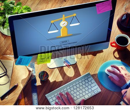 Law Judge Weighing Scale Legal Concept