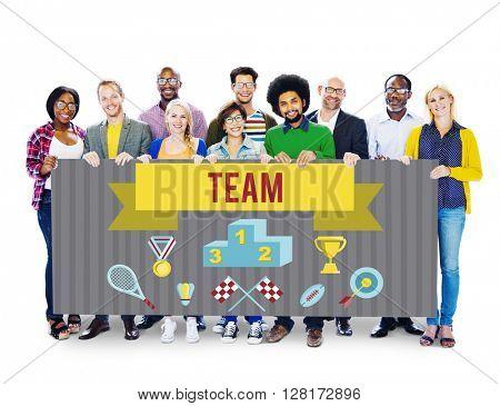 Winner Training Team Sport Event Graphic Concept