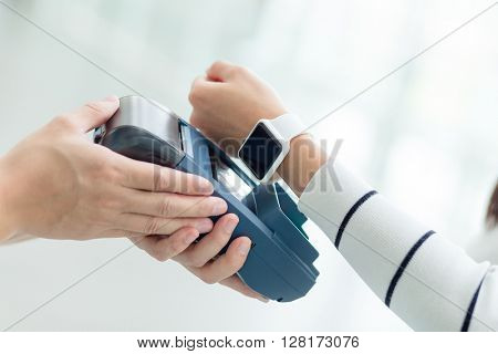 Customer pay with smart watch