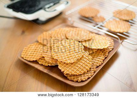 Handmade Pizzelle waffle