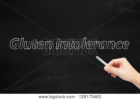 Gluten Intolerance written on a blackboard