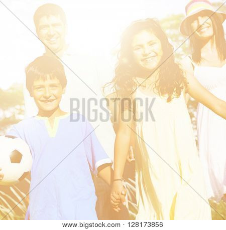 Family Happiness Vacation Lifestyle Concept