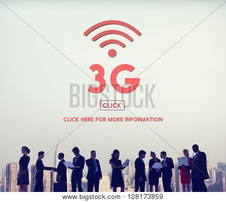 3G Data Connection Network Technology Wireless Concept