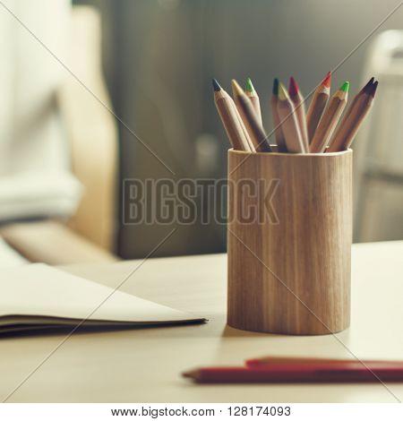 Drawing Colour Pencil Creative Concept
