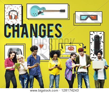 Changes Adapting Choice Future Improvement Concept