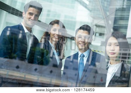 Group of business people inside office