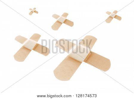 Bandages on white