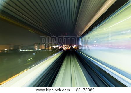 Subway tunnel with Motion