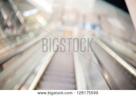 Blur view of escalator