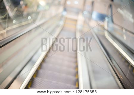 Blur escalator with bokeh