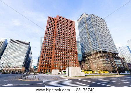 Business district in Tokyo