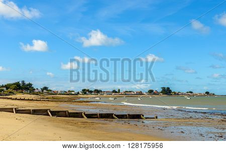 Noirmoutier island landscape in Vendée France
