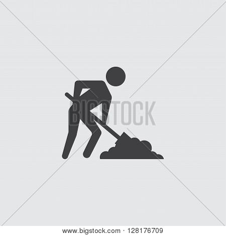 Digging man icon illustration isolated vector sign symbol