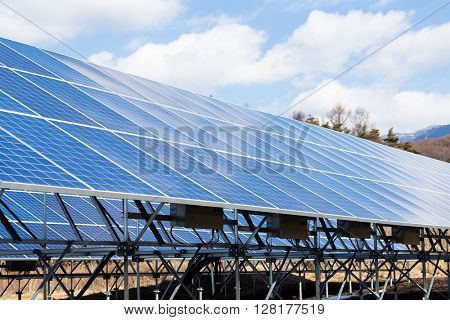 Field of Photovoltaic Solar Panels