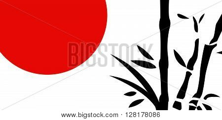Traditional Japanese painting vector illustration art design