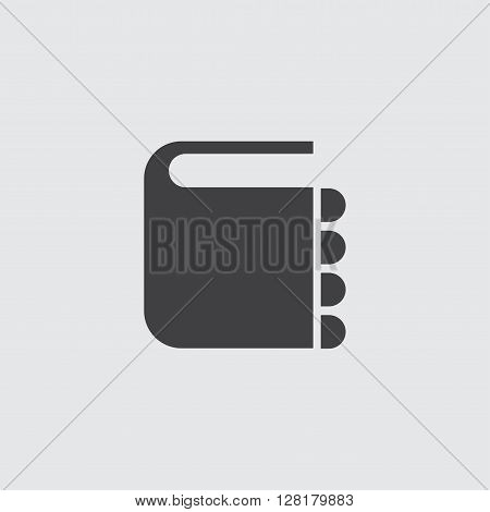 Address book icon illustration isolated vector sign symbol