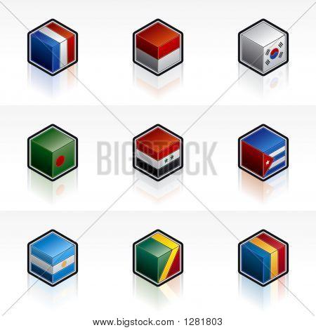 Flag Icons Set - Design Elements 56C