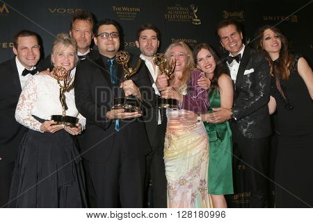 LOS ANGELES - APR 29:  The Bay Producers, Kristos's mom at the 43rd Daytime Emmy Creative Awards at the Westin Bonaventure Hotel  on April 29, 2016 in Los Angeles, CA