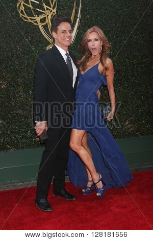 LOS ANGELES - APR 29:  Christian LeBlanc, Tracey Bregman at the 43rd Daytime Emmy Creative Awards at the Westin Bonaventure Hotel  on April 29, 2016 in Los Angeles, CA