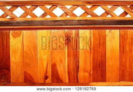 Texture of old wooden fences. Isolated on white background