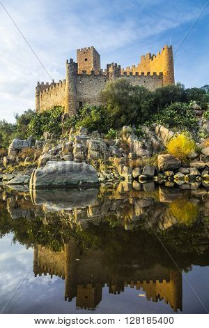 Almourol castle - reflection of history. Portugal