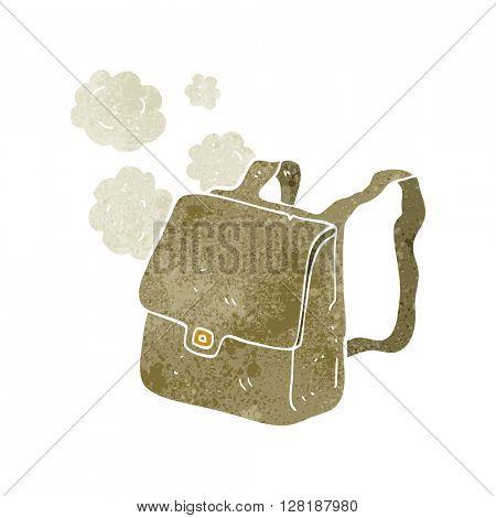 freehand retro cartoon satchel