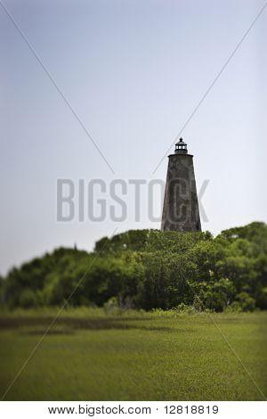 Bald Head Island lighthouse on Bald Head Island, North Carolina.