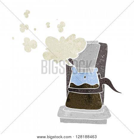 freehand retro cartoon drip filter coffee maker