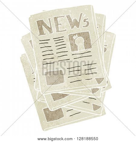 freehand retro cartoon newspaper