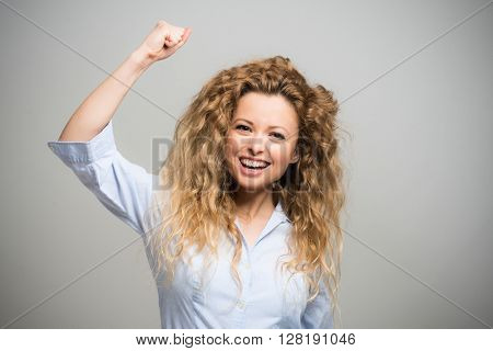 Portrait of a very happy woman