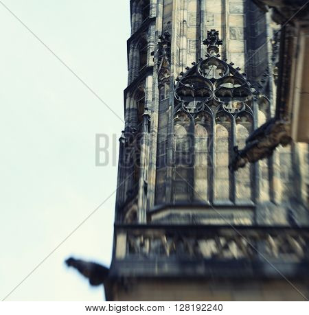 Cathedral church Sacred Vitus in Prague, Czech Republic