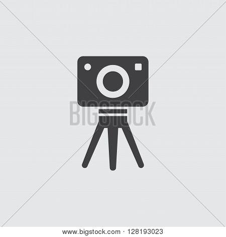 Tripod camera icon illustration isolated vector sign symbol