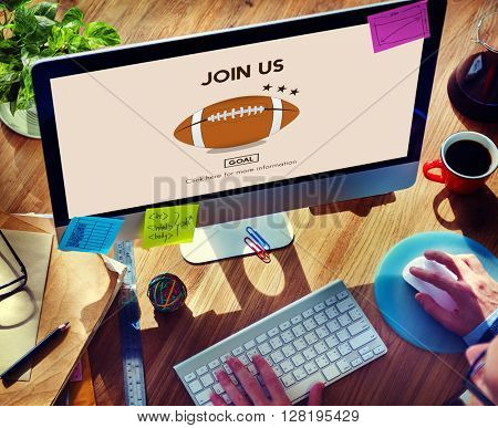 Join Us Application Apply Company Hiring Register Concept