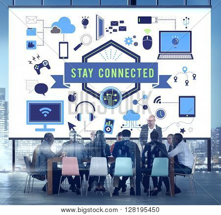Stay Connection Technology Internet Digital Concept