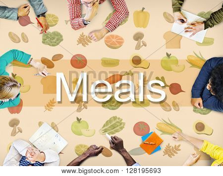 Meals Cuisine Culinary Dining Food Beverage Concept