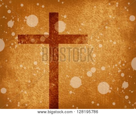 Christian cross on paper background