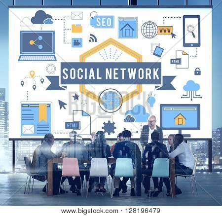 Social Network Communication Concept