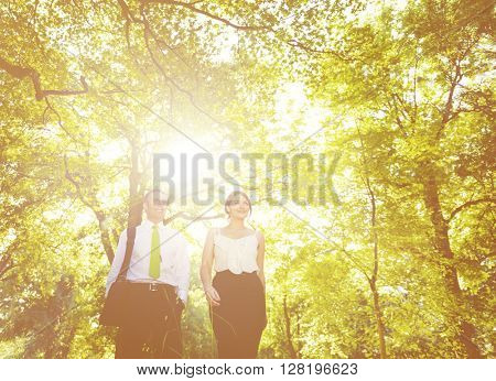 Green Business Couple Concept