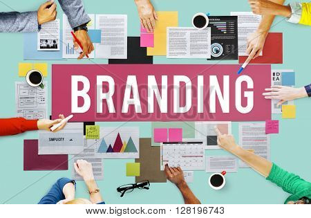 Branding Copyright Label Logo Marketing Sign Concept