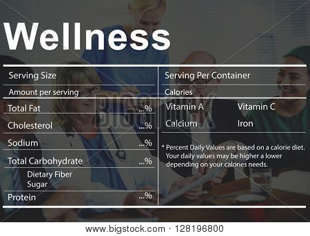 Healthcare Ingredients Wellness Welbeing Nutrition Concept