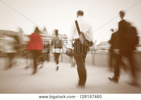 Business People Walking Workplace Concept