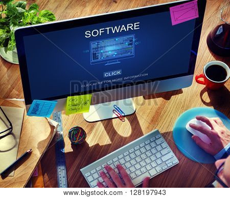 Software Data Digital Programs System Technology Concept
