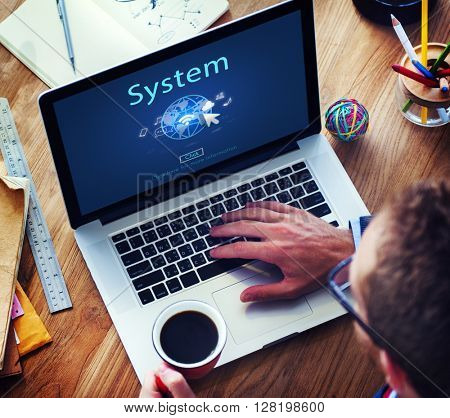 System Internet Network www Globalization Connection Concept