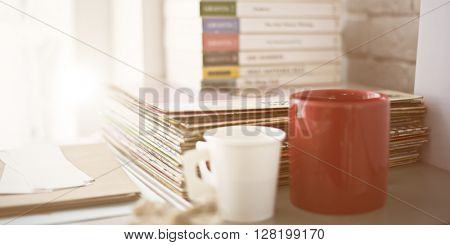 Objects Book Photograph Record Coffee Cup Concept