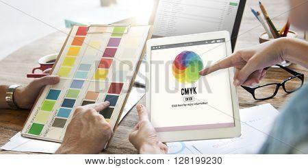 CMYK Color Emblem Symbol Concept