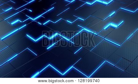 Abstract technology background - 3d render