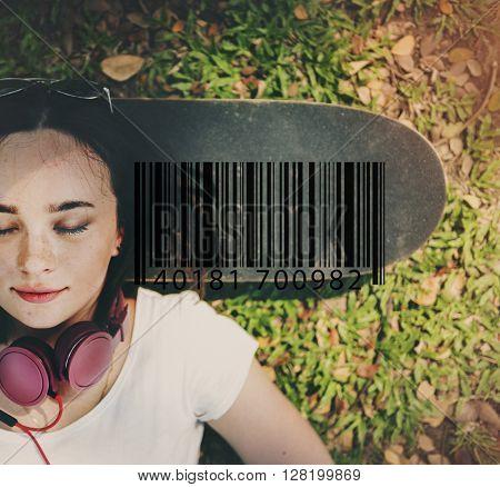 Bar Code Item Label Sign Concept